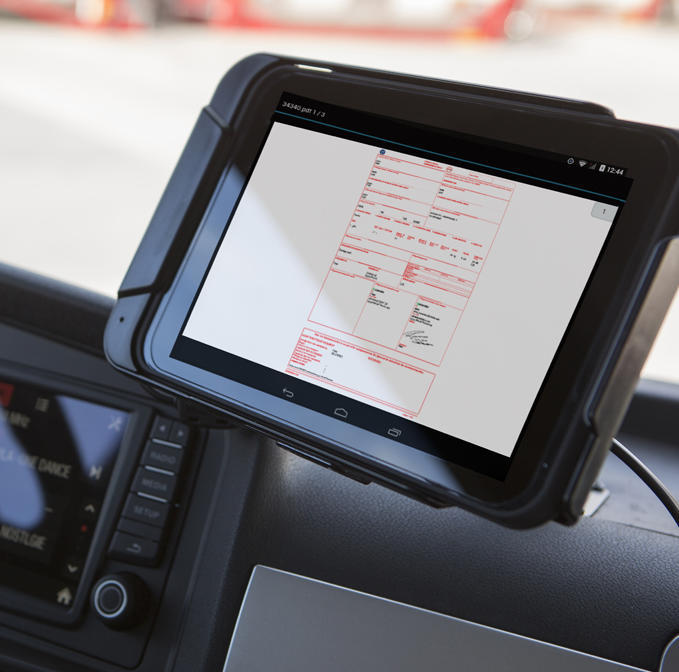 e-CMR FleetXPS tablet